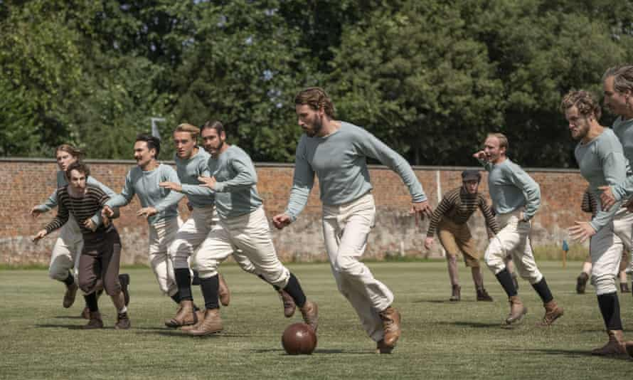 Toff of the league ... Edward Holcroft as Arthur Kinnaird in The English Game.