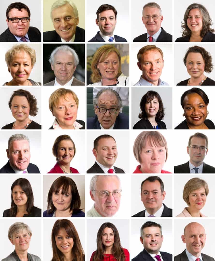 Jeremy Corbyn's shadow cabinet.