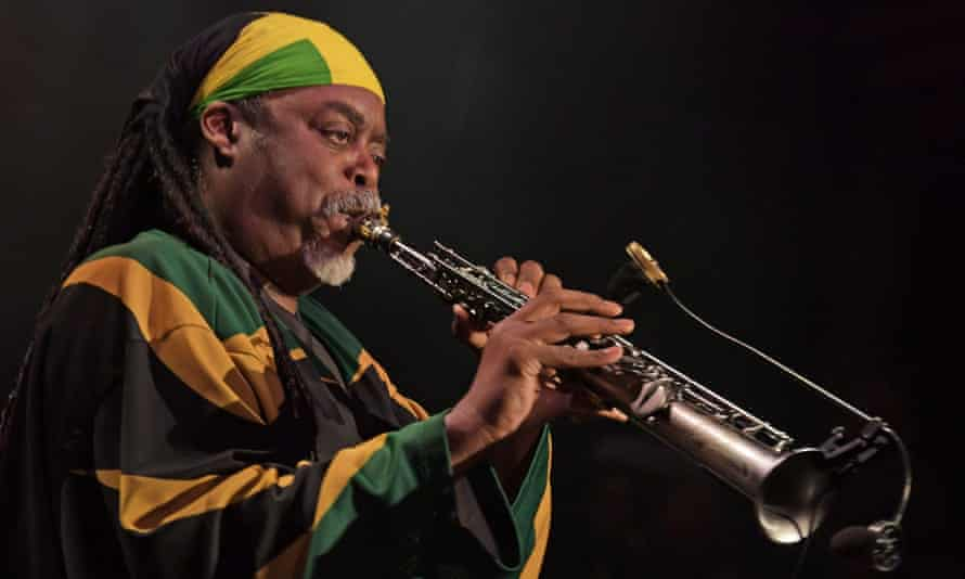 Courtney Pine performs at the Royal Albert Hall in west London.