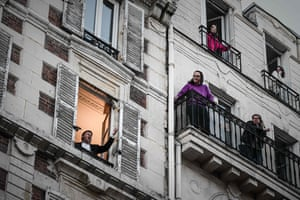 French opera tenor Stephane Senechal performs from his window in a locked-down Paris.