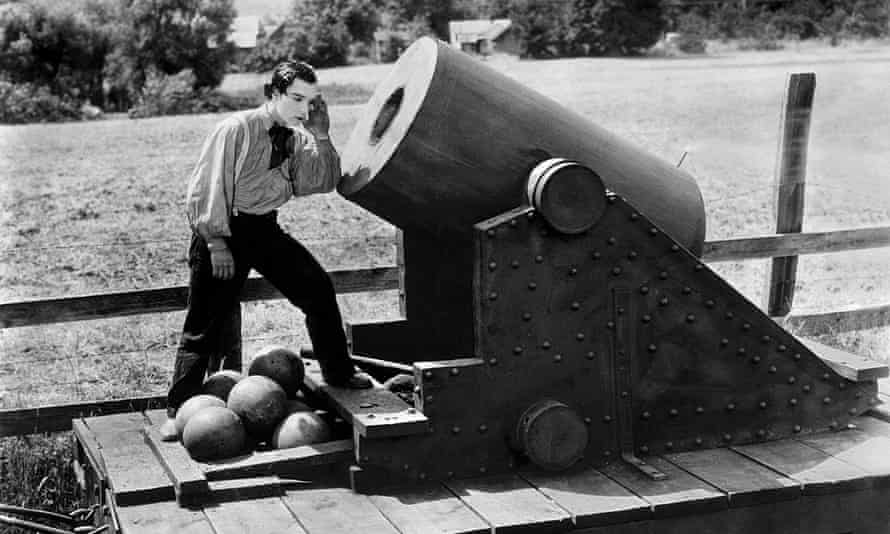 Deadly civil war chase … Buster Keaton in 1927's The General.