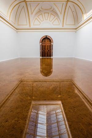 Host, 2016,  by Antony Gormley at the Royal Academy.