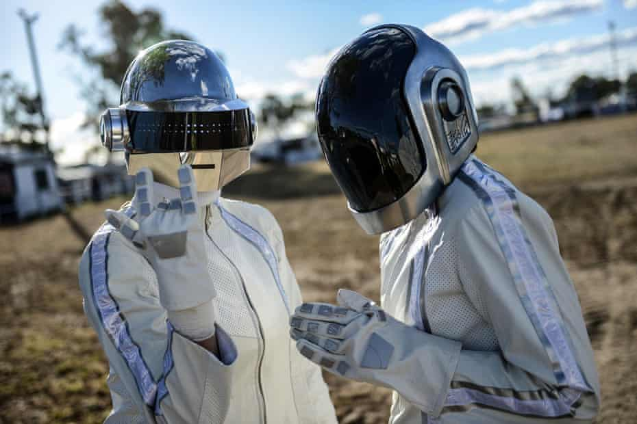 Daft Punk fans in costume