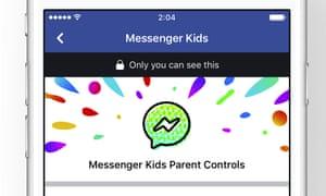 Parental controls on Facebook's Messenger Kids app