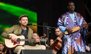 Damon Albarn with the Orchestra of Syrian Musicians