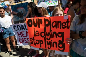 Young people take part in the worldwide climate strike in Cape Town, South Africa