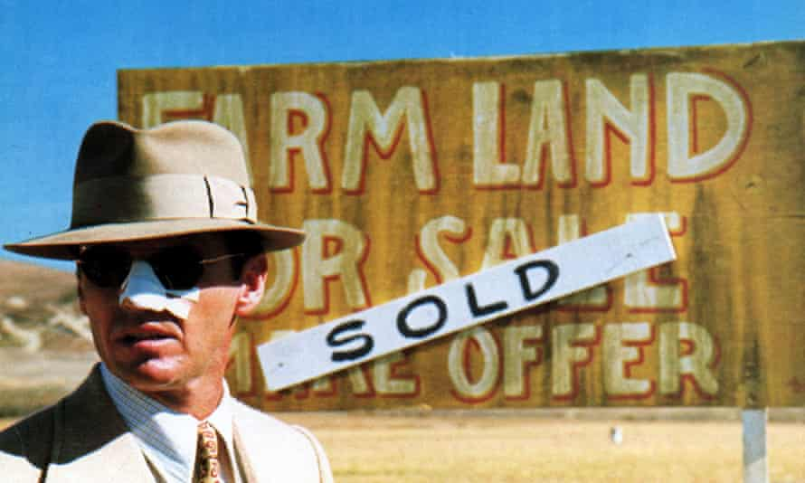 Jack Nicholson in the Robert Evans-produced film Chinatown.
