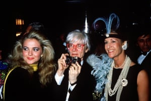 Andy Warhol and friends at a party