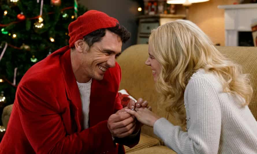 James Franco, hosting for the fourth time, with Kate McKinnon on an episode of Saturday Night Live that was rife with Christmas gags.