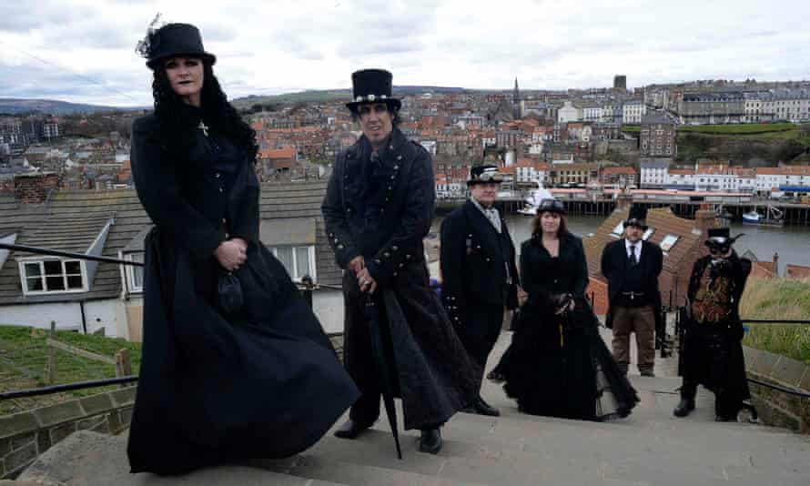 Goths attend the Goth festival in Whitby
