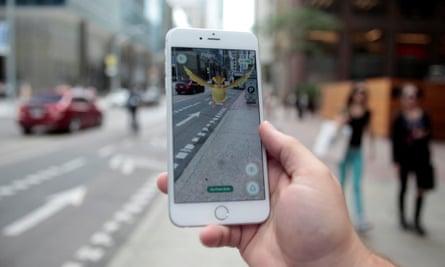 Pidgey Pokemon seen on the screen of the Pokemon Go mobile app.