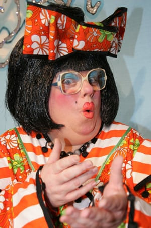 Eric Potts as Widow Twankey in a production of Aladdin at the New Victoria Theatre, Woking in 2008.