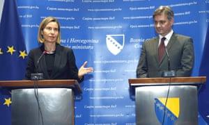 Federica Mogherini visits Bosnia-Herzegovina.