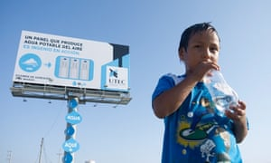 A billboard that generates water from humidity in Lima