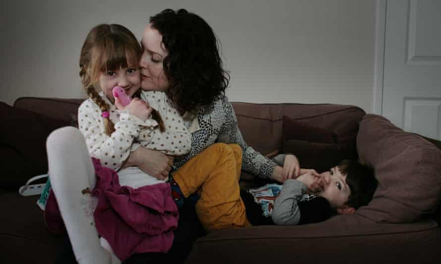 Elyssa Campbell-Barr with her children, Miranda and Felix