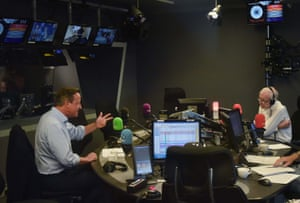 David Cameron is interviewed on the Today showLONDON - SEPTEMBER 19: (NO SALE/NO ARCHIVE) In this handout image provided by the BBC, Former Prime Minister David Cameron is interviewed by John Humphrys on the Today show on September 19, 2019 in London, England. (Photo by Handout/Jeff Overs/BBC via Getty Images)