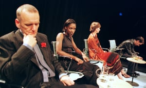 Alan Williams, Sharon Duncan-Brewster, Ingrid Craigie and Paul Thomas Hickey in Crave at Traverse, Edinburgh, in 1998