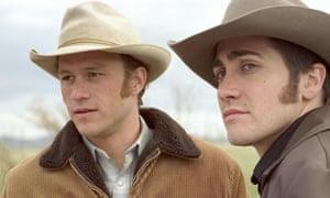 Cold comfort … Heath Ledger (left) and Jake Gyllenhaal in Brokeback Mountain.