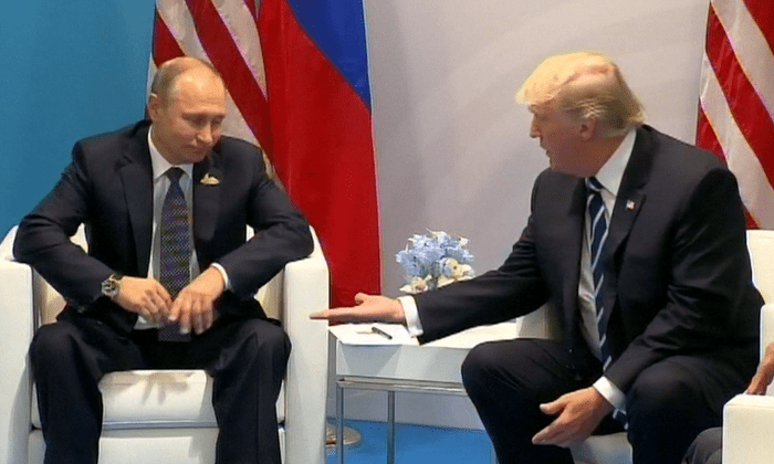 Upper Hand Putin And Trump S Body Language Shows Who S The Boss G20 The Guardian