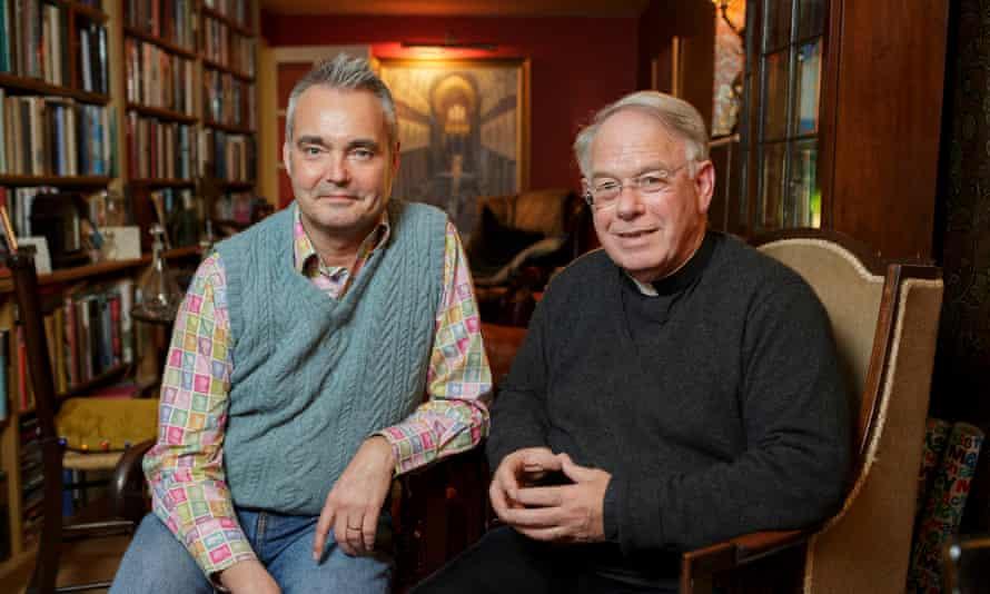 Jeremy Davies (right) and husband Simon McEnery at their home near Salisbury.