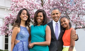 The White House hosts Annual Easter Egg Roll on the South Lawn, Washington D.C, America - 06 Apr 2015Mandatory Credit: Photo by ddp USA/REX/Shutterstock (4610842u) President Barack Obama, First Lady Michelle Obama, and daughters Malia Obama and Sasha Obama pose for a family portrait with Bo and Sunny in the Rose Garden of the White House The White House hosts Annual Easter Egg Roll on the South Lawn, Washington D.C, America - 06 Apr 2015