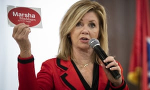 Marsha Blackburn, a Republican who represents Tennessee's 7th congressional district, during a get-out-the-vote rally at Henry Horton state park.