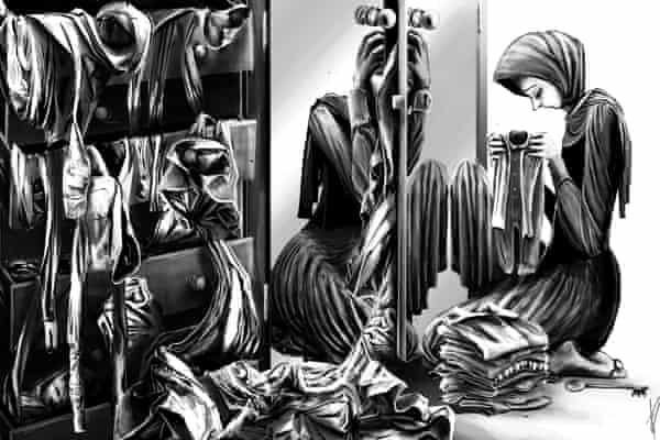 An MSF Lebanon sketch by cartoonist Ella Baron