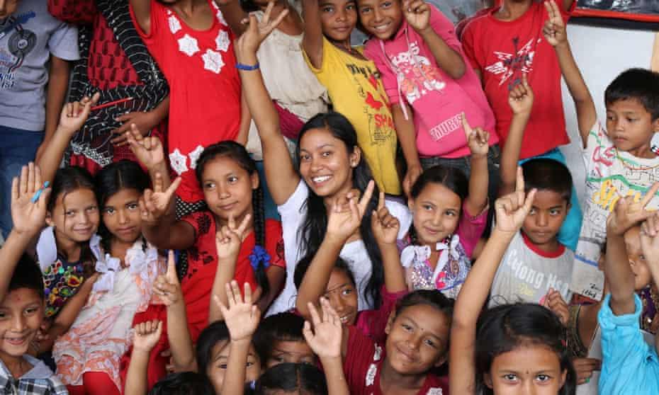 Rachana Sunar with children