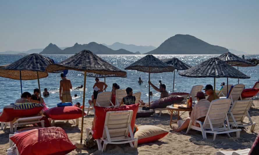 Turgutreis Beach Bodrum Turkey.