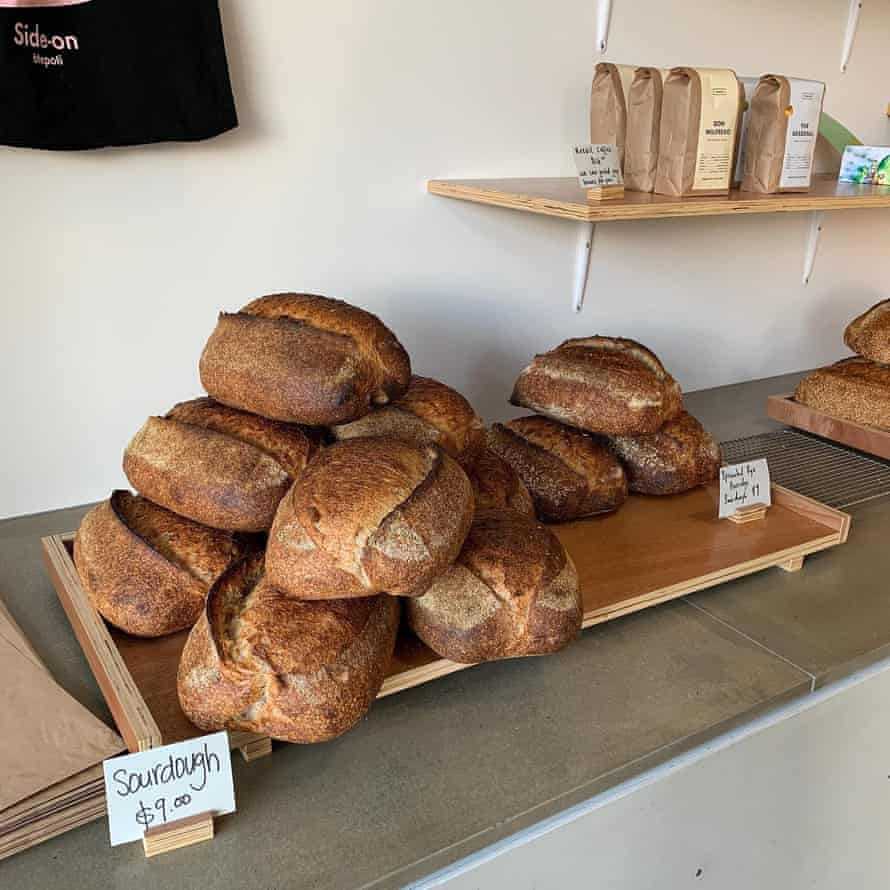Sourdough on display at the Side-on cafe in Dunedin, New Zealand.