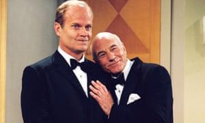 Effervescent … Kelsey Grammer and Stewart in Frasier.