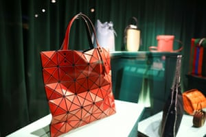 Handbags on display during a preview of the exhibition