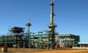 Mozambique's Sasol's gas project is seen in Temane