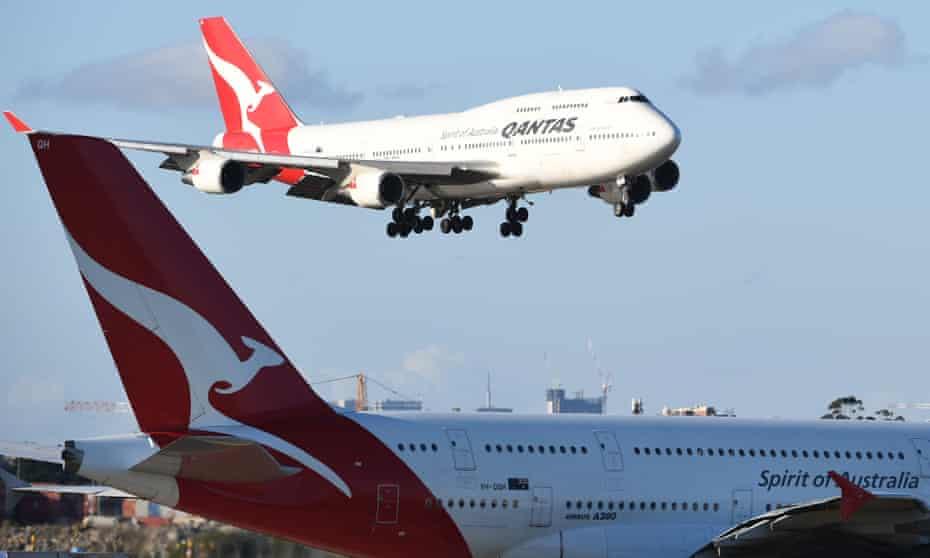 A Qantas Boeing 747