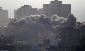 Smoke following Israeli strike on Gaza City