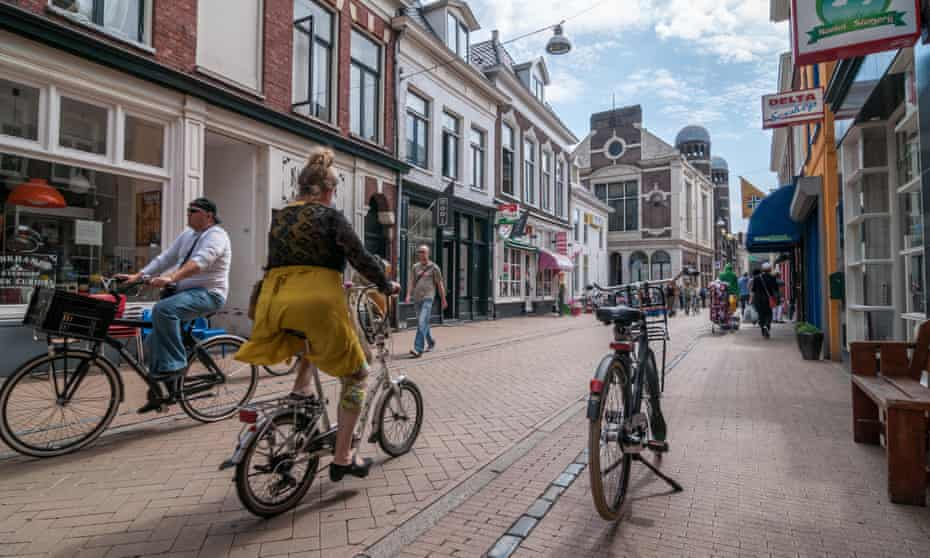 Groningen, the Netherlands, where residents chose to cycle instead of drive.