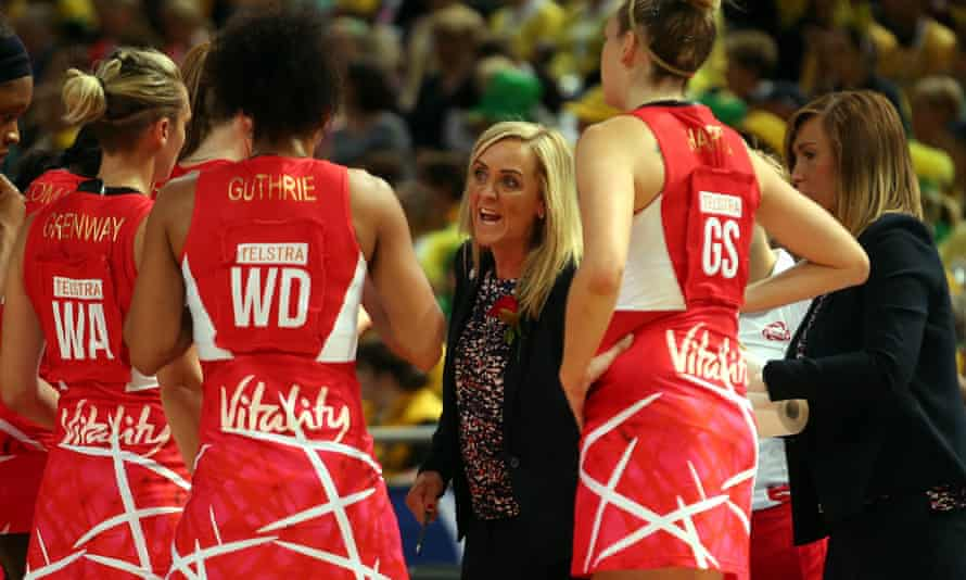 England coach Tracey Neville firing up the team