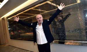 Artist Damien Hirst attends the Empathy Suite designed by Damien Hirst unveiling at Palms Casino Resort
