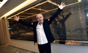 Artist Damien Hirst attends the unveiling of the Empathy Suite, which he designed, at Palms Casino Resort on 1 March.
