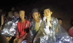 This grab from the second video of the missing boys shows them calmly introducing themselves to the camera.