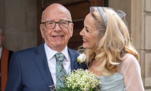 Jerry Hall marries Rupert Murdoch