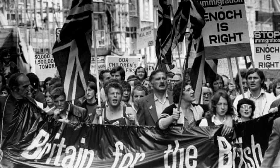 A demonstration in support of Enoch Powell.