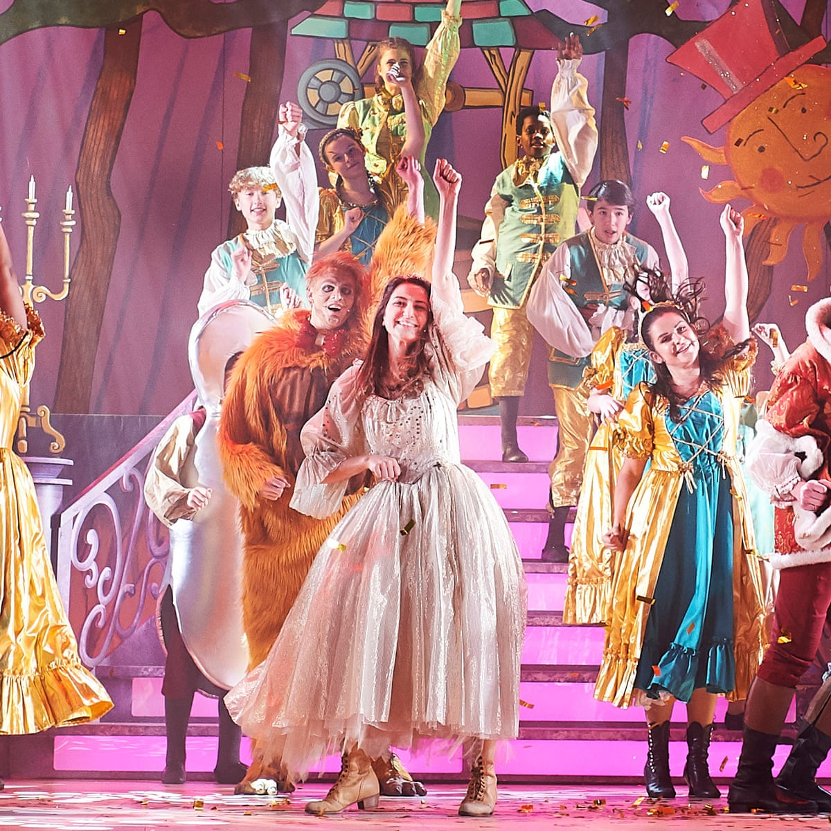 Beauty And The Beast Review A Giggling Melon Racing Feast Of Fun Stage The Guardian