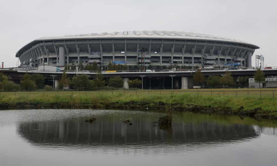The International Stadium in Yokohama after the threat posed by Typhoon Hagibis eased.