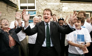 David Cameron with supporters in Witney, 2005