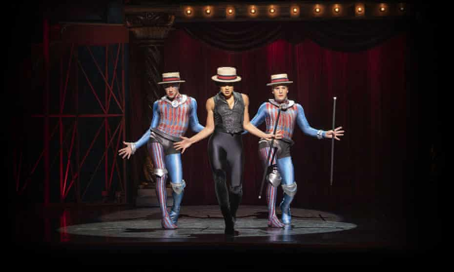Matt Jenson, Gabrielle McClinton and Bayley Edmends in Pippin, which premiered in Sydney on 3 December 2020.