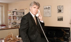 Max Clifford in his office in New Bond Street, central London, in 1992.