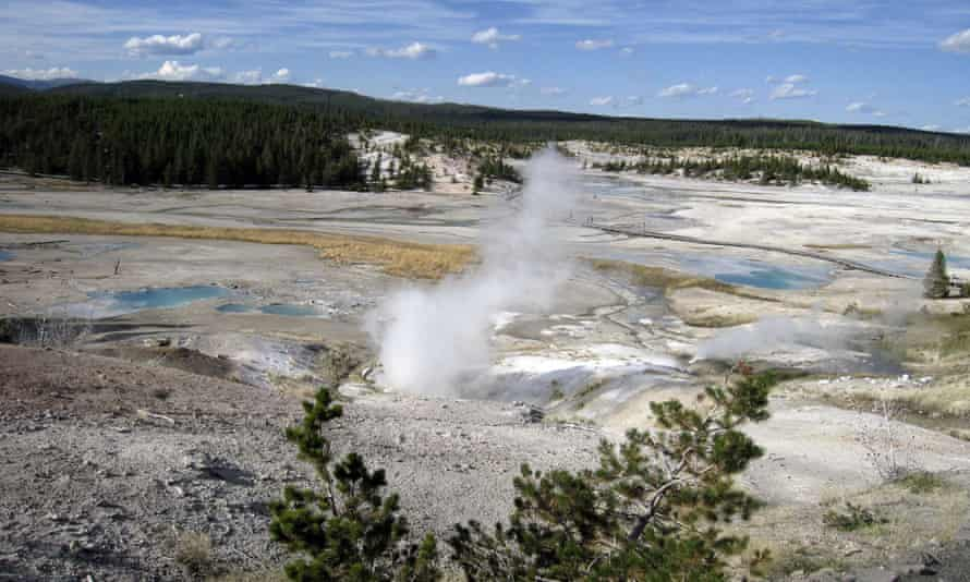 The Norris Geyser Basin in Yellowstone national park, Wyoming, where Colin Scott died.