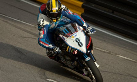 Daniel Hegarty pictured during the grand prix. He sustained fatal injuries and the race was immediately red flagged.