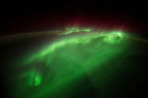 Aurora is captured in this photo taken from the International Space Station and posted by European Space Agency astronaut Alexander Gerst to social media on August 29, 2014. Crewmembers on the space station photograph the Earth from their unique point of view located 200 miles above the surface. REUTERS/NASA/ESA/Alexander Gerst/Handout (OUTER SPACE - Tags: ENVIRONMENT SCIENCE TECHNOLOGY) FOR EDITORIAL USE ONLY. NOT FOR SALE FOR MARKETING OR ADVERTISING CAMPAIGNS. THIS IMAGE HAS BEEN SUPPLIED BY A THIRD PARTY. IT IS DISTRIBUTED, EXACTLY AS RECEIVED BY REUTERS, AS A SERVICE TO CLIENTS - TM3EA99181401